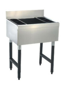 Advance Tabco 35 Underbar Ice Bin Cocktail Station 7 circuit Cold Plate