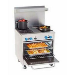 Comstock Castle F326 18 30 Commercial 2 Burner Gas Range W 18 Griddle