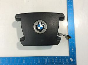 02 03 04 05 Bmw E65 745i 750i Steering Wheel Emblem Badge Logo Oem J