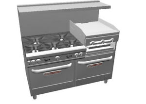 Southbend Ultimate 60 5 Burner Range W Griddle broiler 2 Conv Oven