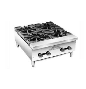 Comstock Castle Fhp24 24 Wide Countertop Gas Hotplate W 4 Burners