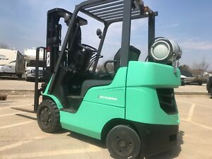 2013 Caterpillar mitsubishi 5000 Pound Lpg Forklift we Will Ship new Paint tires