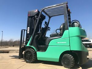 2013 Caterpillar mitsubishi 5000 Pound Lpg Forklift we Will Ship lifts 20 Ftl k