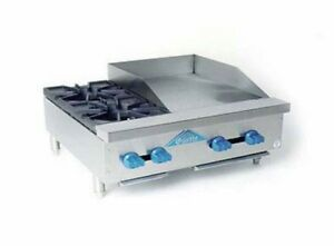 Comstock Castle Fhp30 18 30 Counter Top Combo W 2 Burners 18 Griddle
