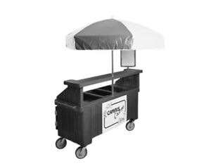 Cambro Cvc72192 Camcruiser 55 3 well Vending Cart Granite Green