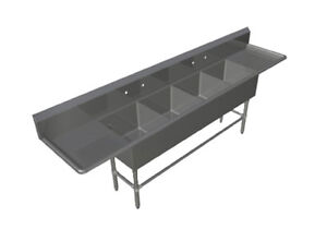 John Boos 4pb16184 2d24 4 Compartment 16 X 18 Stainless Steel Pro bowl Sink