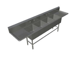 John Boos 4pb184 2d18 4 Compartment 18 X 18 Stainless Steel Pro bowl Sink