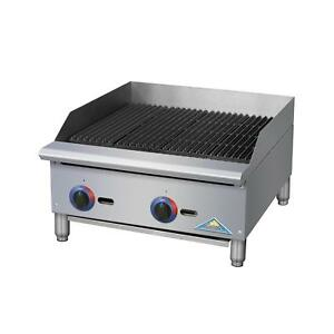Comstock Castle Br48 Br Series 48 Manual Gas Countertop Charbroiler 140kbtu