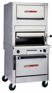 Southbend P32a 171 32 Gas Infrared Upright Broiler With Convection Oven Base
