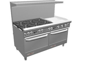 Southbend S60aa 2t S series 60 Range W 24 Therm Griddle 2 Conv Ovens