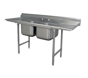 Advance Tabco Regaline 2 compartment Stainless Steel Sink 20 x20 Bowls