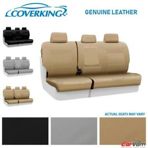 Coverking Genuine Leather Rear Custom Seat Cover For 1999 2002 Saab 9 3