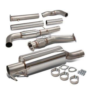 Vw Golf Jetta Mk4 1 8t 3 Tip Stainless Turbo Catback Downpipe Exhaust Muffler