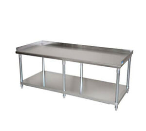 Bk Resources 73x30 Stainless Steel Equip Stand With Undershelf Riser