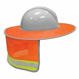 Full Brim Hi Sunshade Orange Hard Hat Sun Neck Shade Viz Sunshield Hardhats