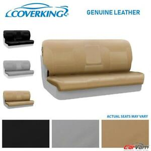 Coverking Genuine Leather Rear Custom Seat Cover For 2005 2009 Ford Mustang