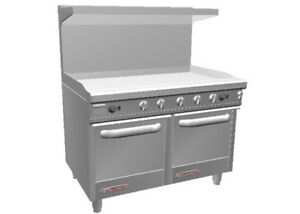 Southbend S48ee 4t 48 S series Range W Space Saver Ovens 48 Therm Griddle