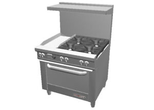Southbend S36a 1gl 36 S series Range W Convection Oven 12 Griddle Left