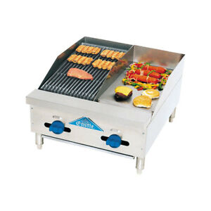 Comstock Castle 36 Counter Top Combo Unit 18 Griddle 18 Radiant Broiler