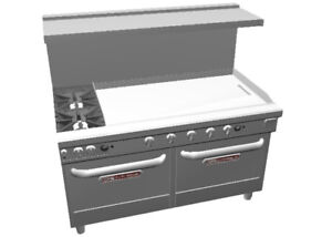 Southbend Ultimate 60 Star Burner Range W 48 Therm Griddle 2 Conv