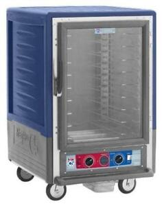 Metro C535 cfc l bu 1 2 Mobile Holding proofing Cabinet Lip Load W Clear Door