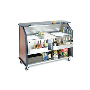 Lakeside 76886 63 7 8 wx27 1 2 dx46 1 2 h Portable Bar W 2 40lb Ice Bins