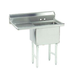 Advance Tabco 1 Compartment Sink 18 x24 x14 Size Bowl 24 Left Drainboard