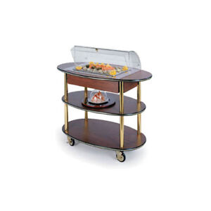 Lakeside 36306 23 dx44 wx44 1 4 h Rounded Oval Dome Display Seafood Cart
