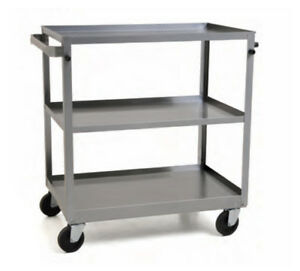 Eagle Group Uuc 311 3 tier 16 3 4 wx27 5 8 dx32 h Stainless Steel Utility Cart
