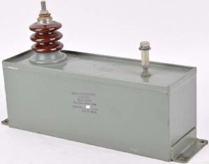 Cond Knoc 30m 0156 Mfd 30kv 30000vdcw Oil filled 1 ph High Voltage Hv Capacitor