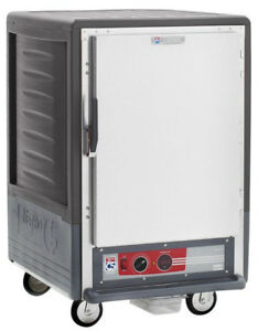 Metro C535 cfs l gy 1 2 Mobile Holding proofing Cabinet Lip Load W Solid Door