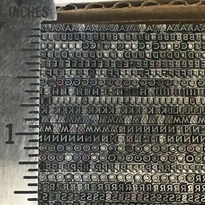 Bernhard Title Medium 6 Pt 3 4 Letterpress Type Vintage Printer s Lead Metal