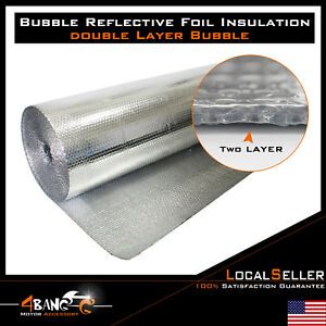 Foil Insulation Bubble Double Foil House Roof Wall Heat Insulation Reflective
