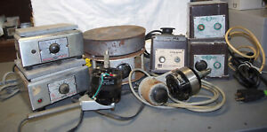 Lot Of 8 Vintage Lab Equipment Mixers Stirrers Hot Plates All Work Classic