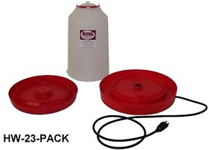 1 three Gallon Heated Waterer Combo Heated Chicken Waterer W Regular Base Incl