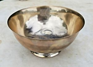 Estate Reed Barton Paul Revere Repro X406 Sterling Silver Footed Bowl 6 5
