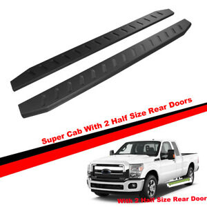 76 Running Boards For 99 16 F250 f350 f450 Super Duty Ext Cab Side Step Bars