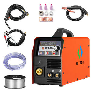 Hitbox Mig Welder Mag Gas Go Gas Lift Tig Stick Welding Machine Arc 3in 1 Welder