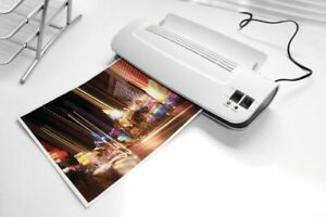 Thermal Hot Cold Laminator Machine 50 Pack Laminating Pouches Sheets Warms Up