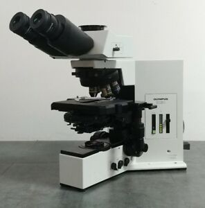 Olympus Microscope Bx50 With Dic And Superwide Trinocular Head