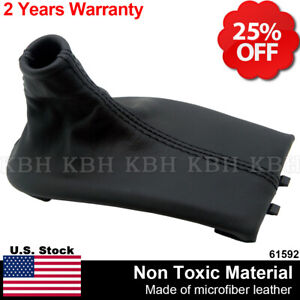 Manual Shifter Shift Boot Leather For Porsche Boxster 911 986 996 97 04 Black