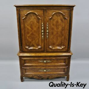 Drexel Cabernet Classics Country French Provincial Tall Chest Dresser Armoire