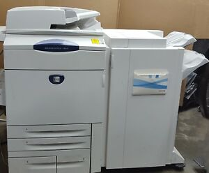 Xerox Workcentre 7655 Color Mfp Copier Print 65 Ppm Light Production Finisher