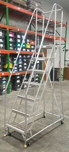 Liquidation Bauer Ega Rolling Safety 7 step Ladder 8630