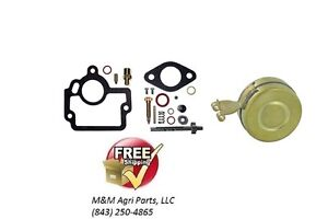 Carburetor Rebuild Repair Kit Float Ih Farmall Hv I4 O4 W4 Tractor Ih Carb