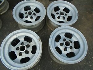 Vintage Cragar Slot Wheel Rims Set Of 4 rare 15 x7