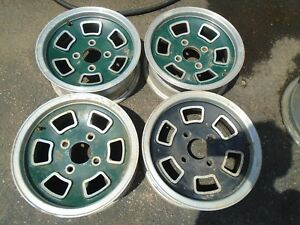 Vintage 13 X5 Mag Aluminum Wheel Rims Set Of 4 Bolt Pattern 4x4 5