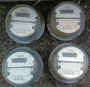 Lot 4 landis Gyr 5 Number gear Driven electric Meters used free Shipping