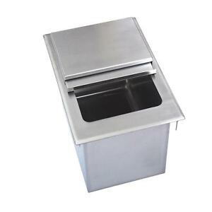 Bk Resources Bk dibl 1218 12 wx18 dx14 3 8 d Stainless Steel Drop in Ice Bin