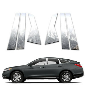 6p Stainless Pillar Post Covers Fits 2010 15 Honda Crosstour By Brighter Design